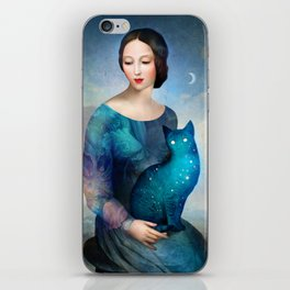 Night Cat iPhone Skin