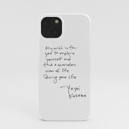 A wonderful note from Kusama (typography) iPhone Case