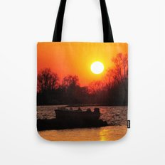 Silhouettes and Fire Tote Bag