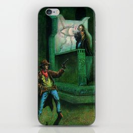 The Gunslinger and the Man Behind the Curtain iPhone Skin