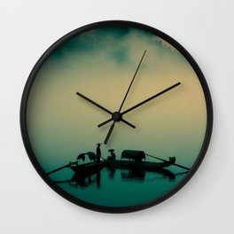 Junk ship Chinese Boat Wall Clock
