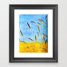 Touch of gold  Framed Art Print