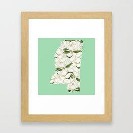 Mississippi in Flowers Framed Art Print