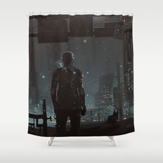 After fall Shower Curtain
