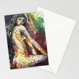Nude abstract watercolor Stationery Cards
