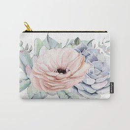 Pastel Succulents by Nature Magick Carry-All Pouch