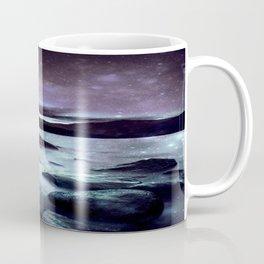 Magical Mountain Lake Dark Lavender Teal Coffee Mug