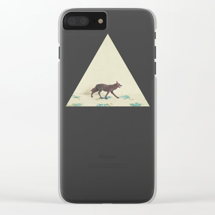 Wandering Wolf Clear iPhone Case