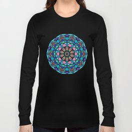 Round ornament in ethnic style Long Sleeve T-shirt