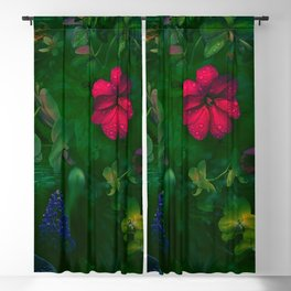 Gathering of Flowers - [Green Version] Blackout Curtain