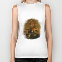 replaceface Biker Tanks featuring Michael Clarke Duncan - replaceface by replaceface