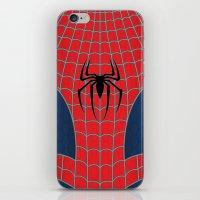 spider man iPhone & iPod Skins featuring Spider-Man by C.Rhodes Design