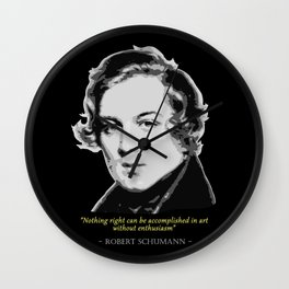 Robert Schumann Quote Wall Clock