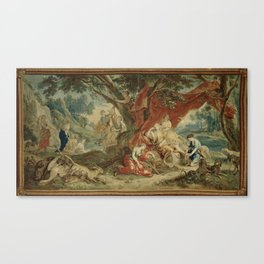 Resting Diana, from the Triumph of the Gods Canvas Print