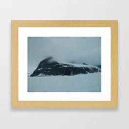 Mendenhall Glacier Mountains (Small) Framed Art Print