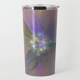 Fairy Blossom Fractal Travel Mug