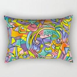 Colourful Faces Rectangular Pillow