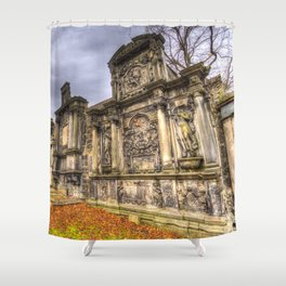 Greyfriars Kirk Cemetery Edinburgh Shower Curtain