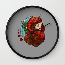Little Red Wall Clock