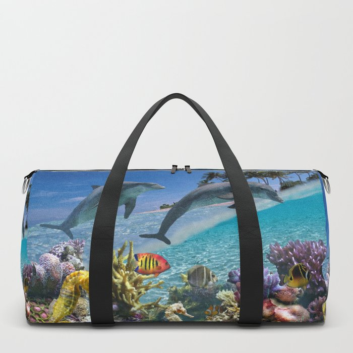 Coral Reef and Dolphins Duffle Bag