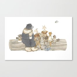 Welcome Winter Party Canvas Print