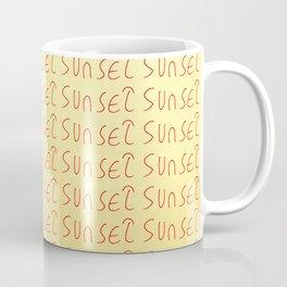sunset-sky,light,twilight,dusk,gloaming,crepusculo Coffee Mug