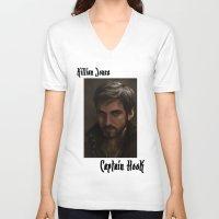 "ouat V-neck T-shirts featuring OUAT - Killian Jones - Captain Hook by Barbara ""Yuhime"" Wyrowińska"