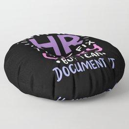 HR The Unofficial Lawyer Psychologist Event Planner Teacher Floor Pillow