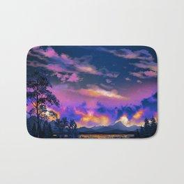 Night Sky Sunset Bath Mat
