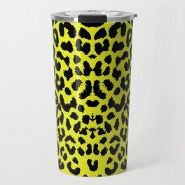 Yellow Leopard Travel Mug
