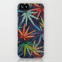 boho weed midnight iPhone Case