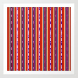 Red and Purple huipil Art Print