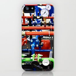 Piping with manometers for industry iPhone Case
