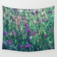 waldo Wall Tapestries featuring Meadow Flowers by Dorothy Pinder