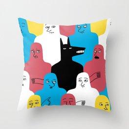 A Wolf Throw Pillow