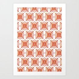 Symmetrical Shapes - Fire Burst Art Print