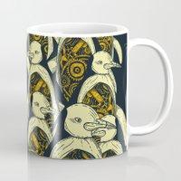 penguins Mugs featuring penguins by Kiryadi