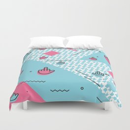 Geometic Fingers Duvet Cover