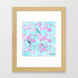 orquídeas Framed Art Print