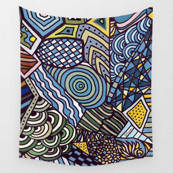 Midnight Wanderlust Zoom 1 Wall Tapestry