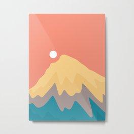 A peak up high Metal Print