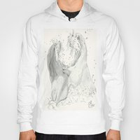 otters Hoodies featuring Playful Otters  by Jennifer Golla Art
