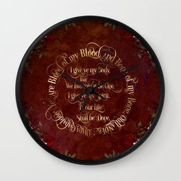Outlander Wedding Vows Wall Clock