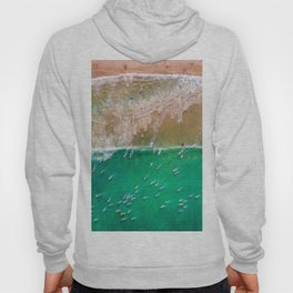 Surfers Paddling Out Hoody