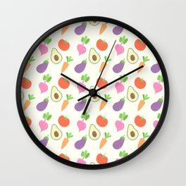 Mixed Vegetable Wall Clock