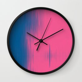 abstract light blue & pink  Wall Clock