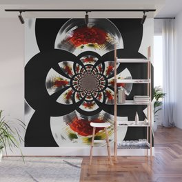 Mirror Image Abstract Wall Mural