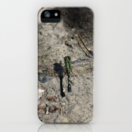Dragonfly on Ground iPhone Case