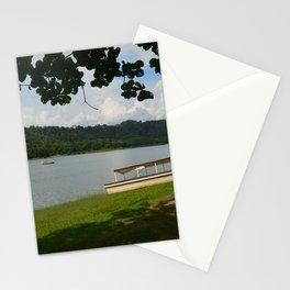 Boat on side lake Stationery Cards