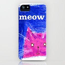 Crayon Cat iPhone Case